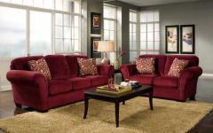 Red sofa living
